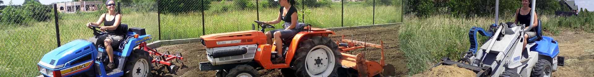 Traktorki ogrodnicze